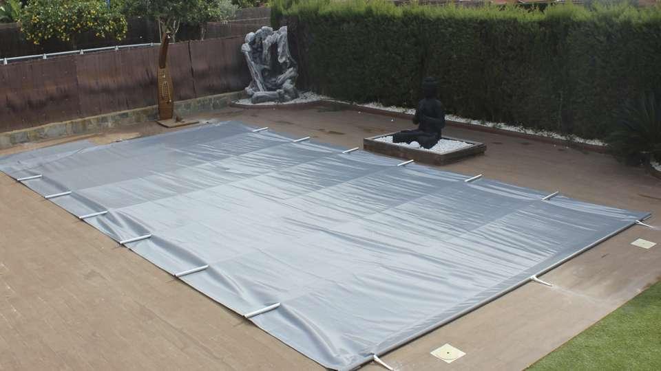 Cobertor de barras gris
